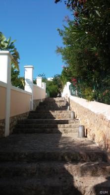 Santa Eulalia - Aufstieg zur Iglesia